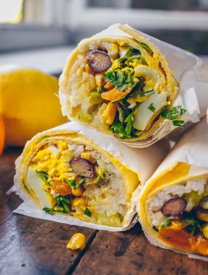 Bohnen und Reis Burritos | vegan & ideal zum mitnehmen
