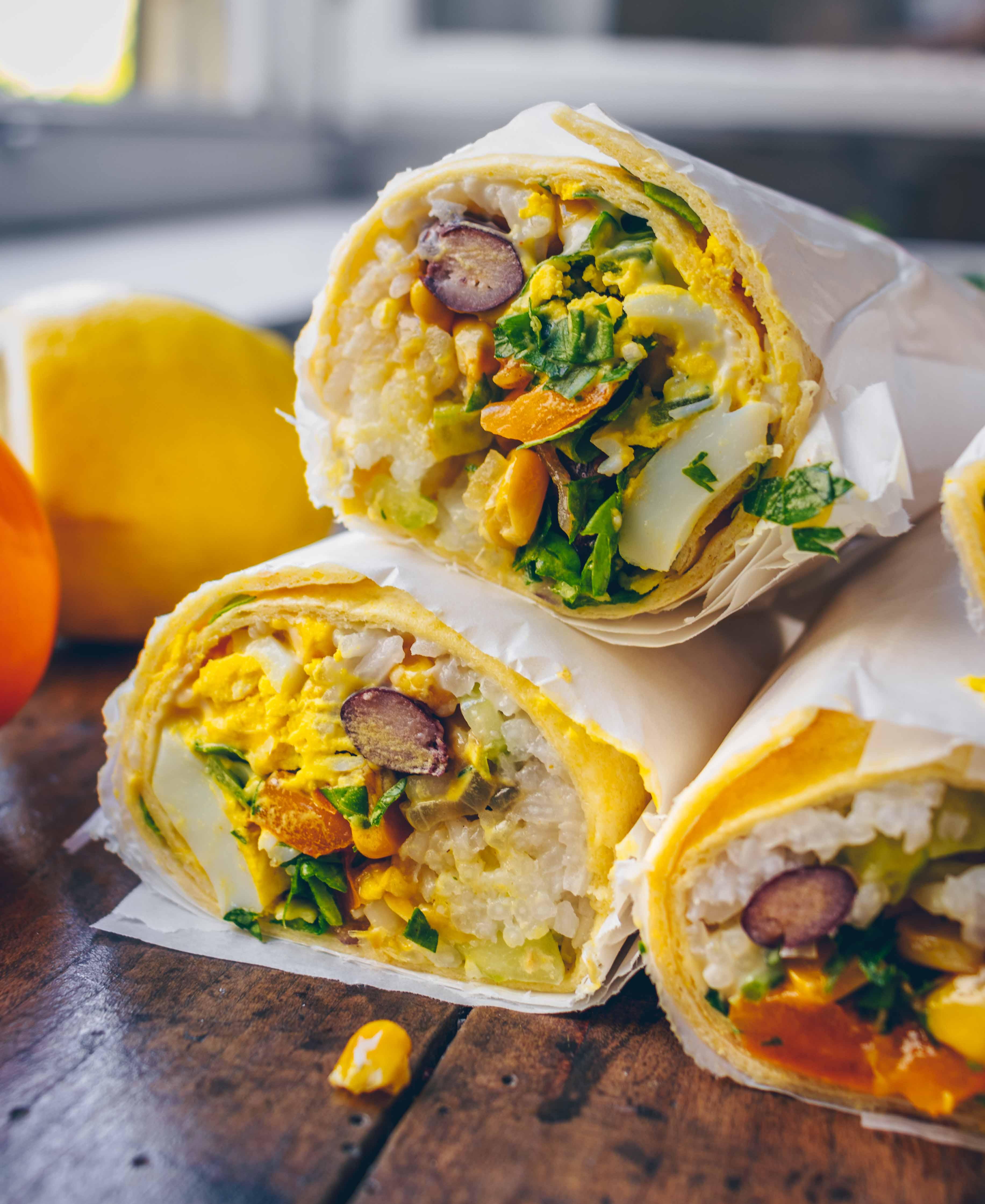 Bohnen und Reis Burritos