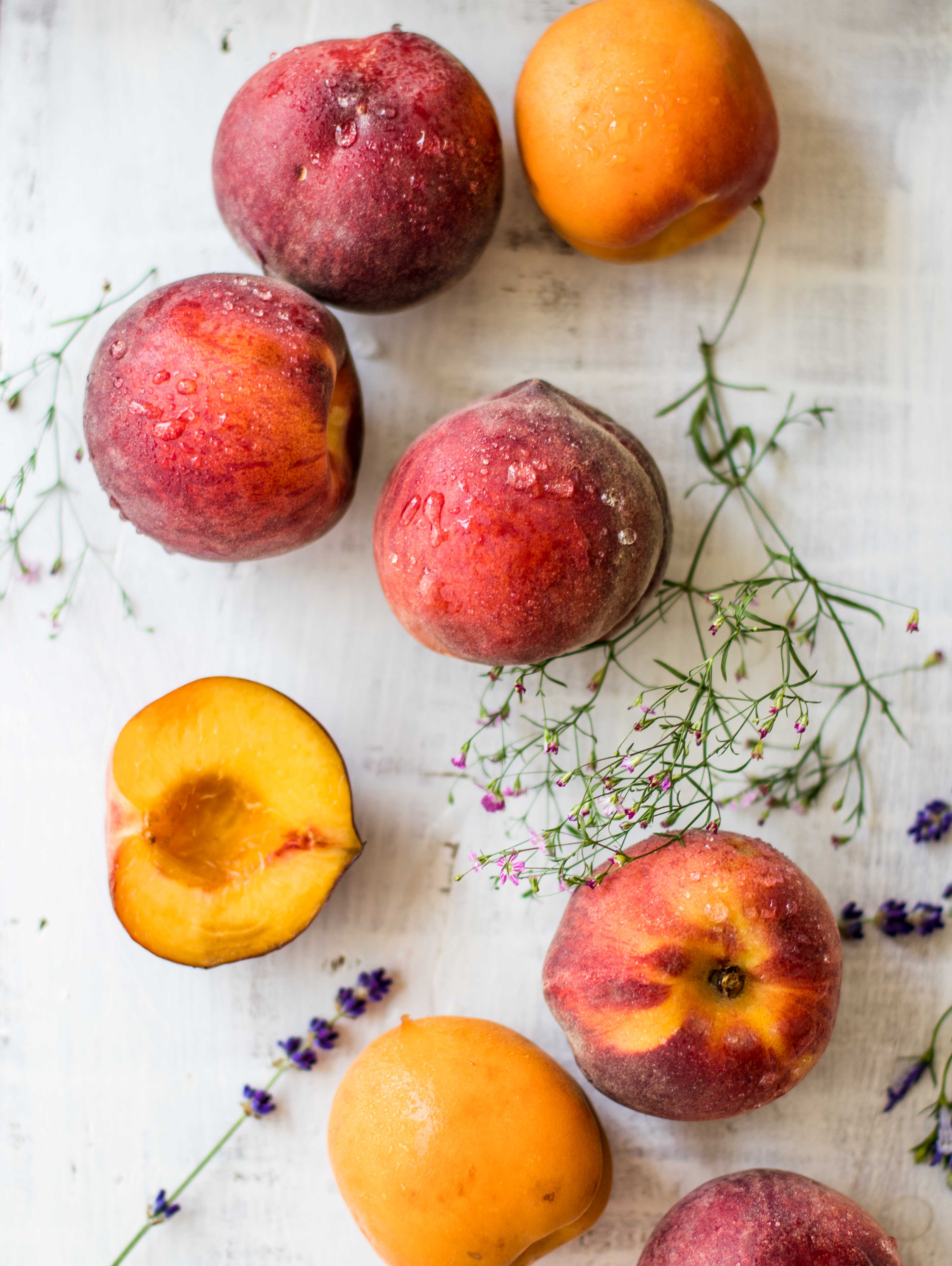Peach apricot ice cream
