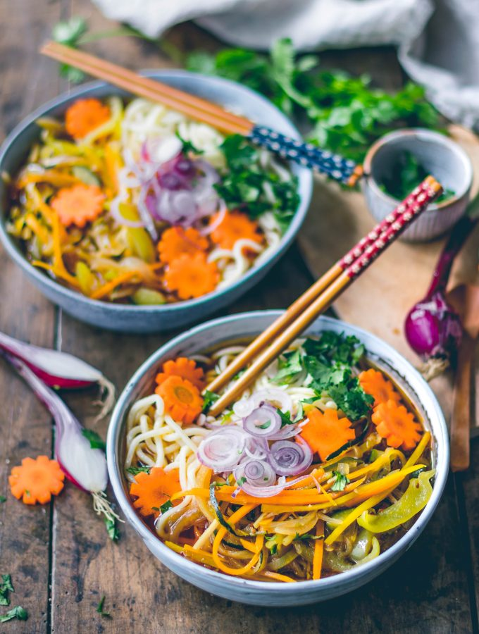Sweet and Chili Soup | vegetable noodle soup – ad