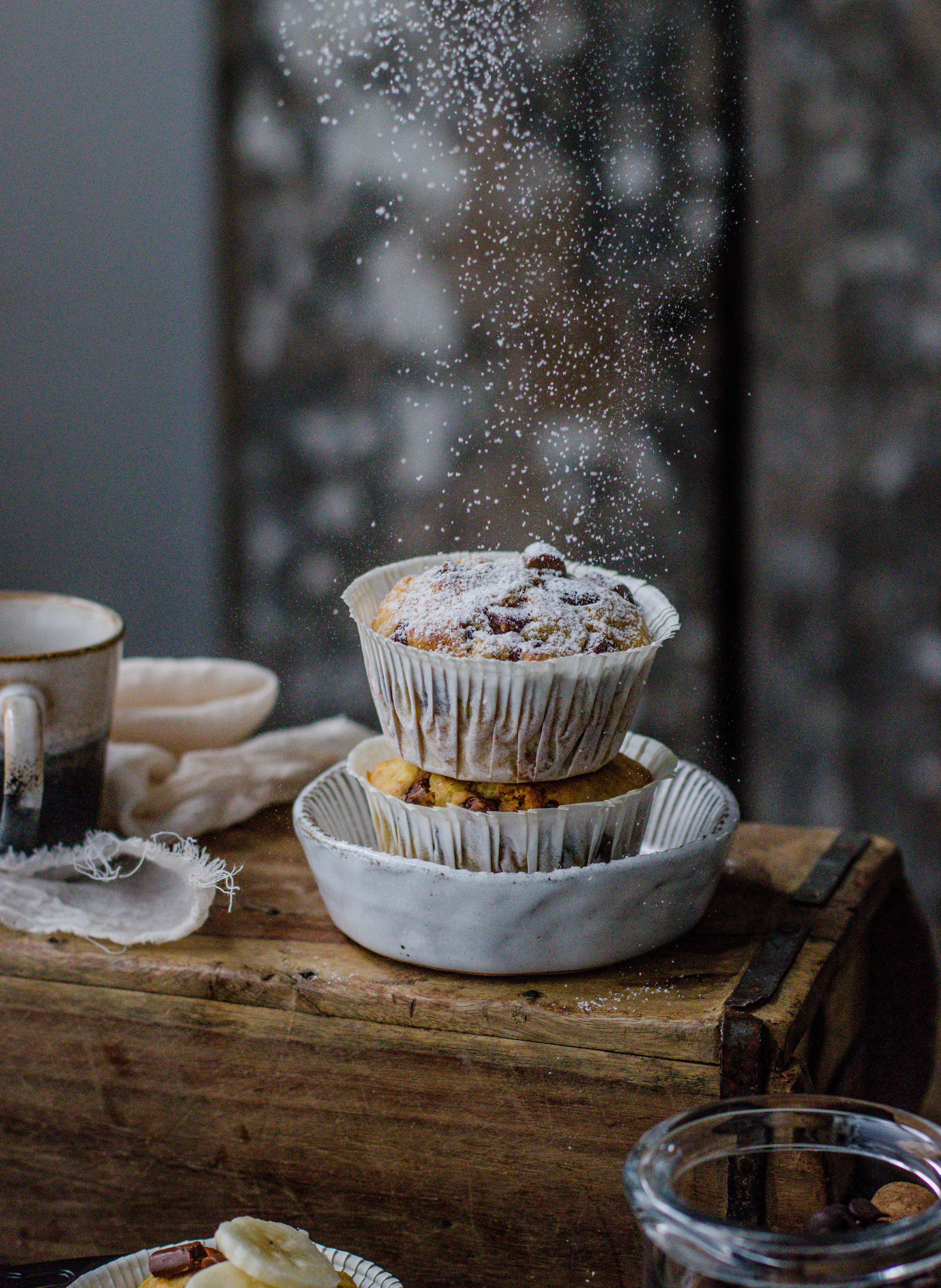 Bananen Schokoladenchip Muffins