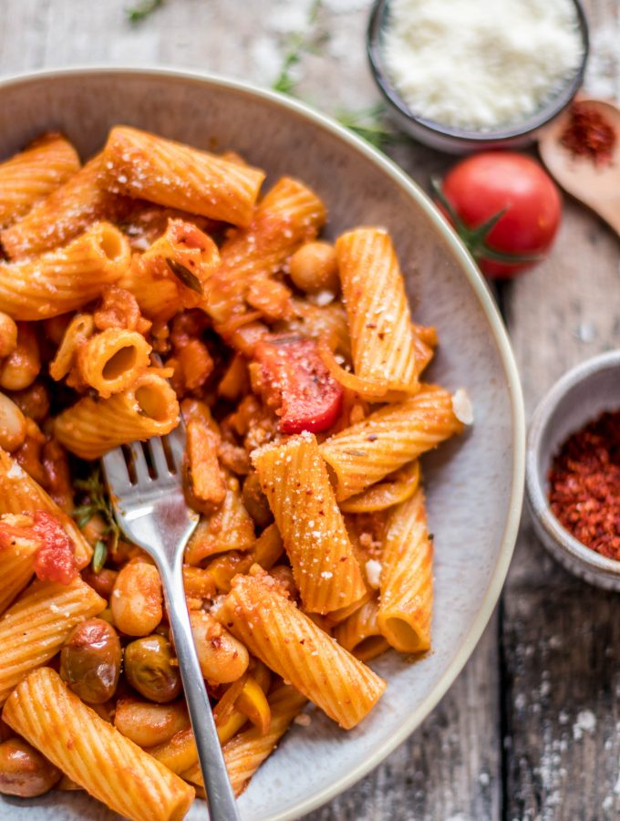 Tomaten Paprika Pasta Sauce | einfaches & schnelles Rezept