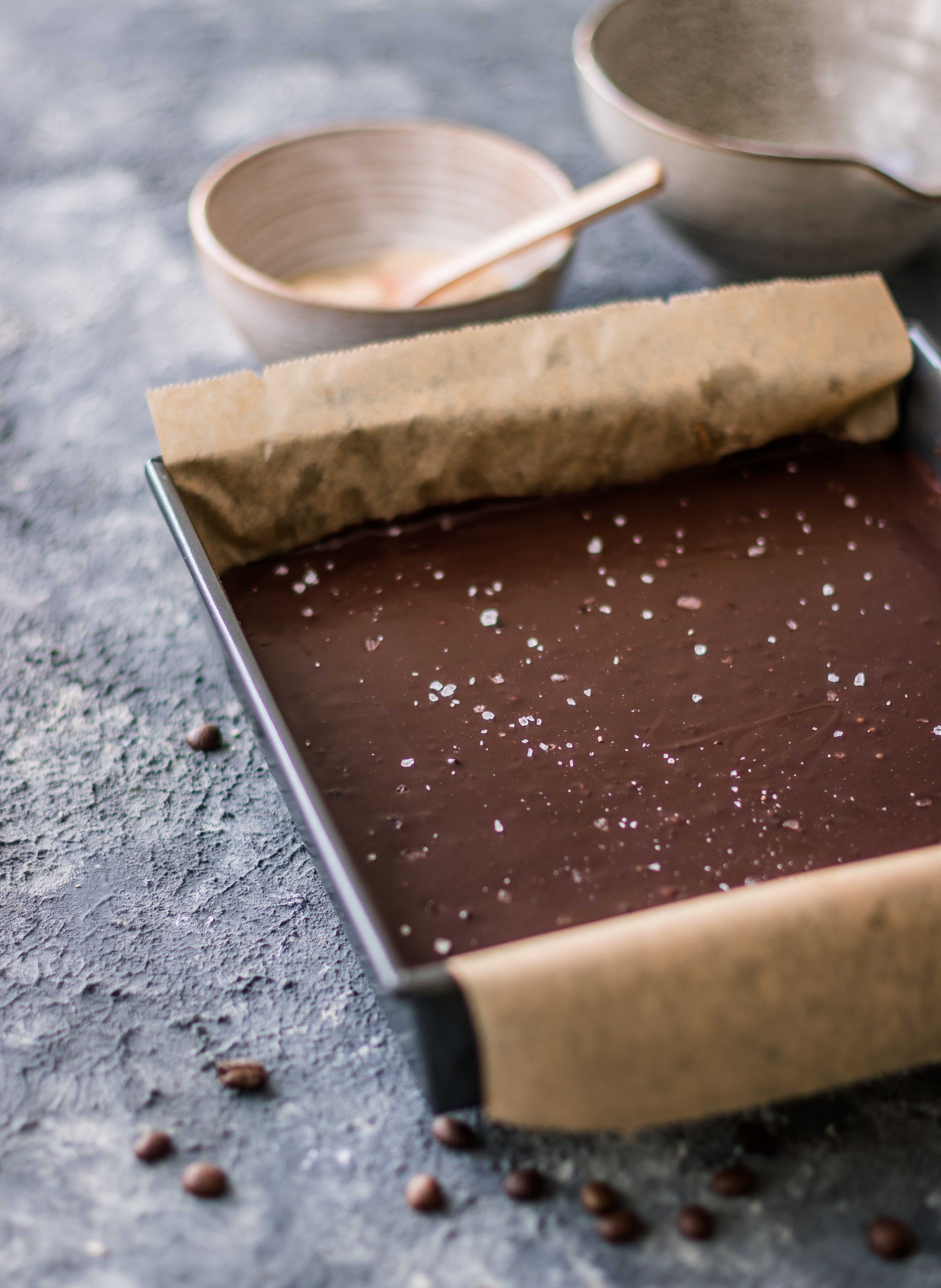 Coffee caramel shortbread