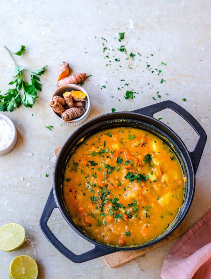 Süßkartoffel Kurkuma Suppe | cremig und gesund