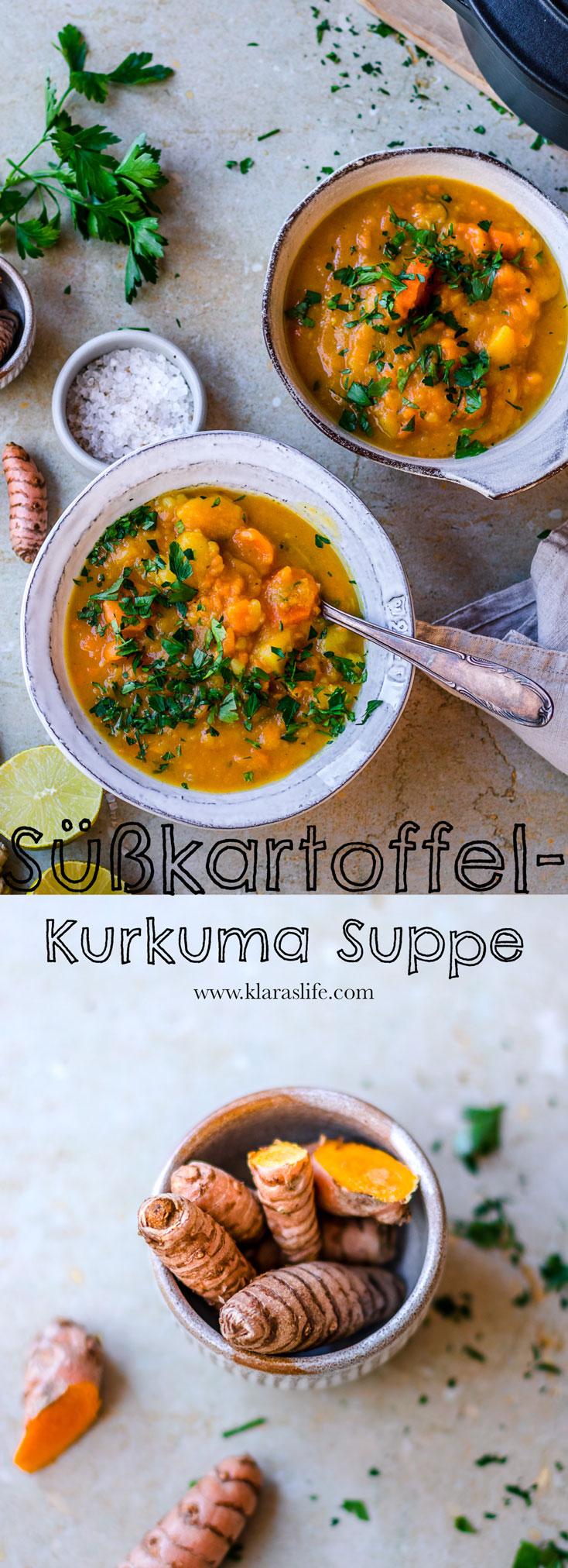 Süßkartoffel Kurkuma Suppe