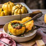Roasted Pumpkin Lasagna Boats