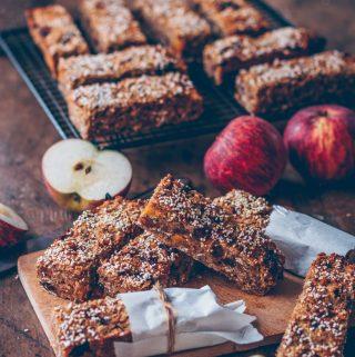Apple amaranth muesli bars