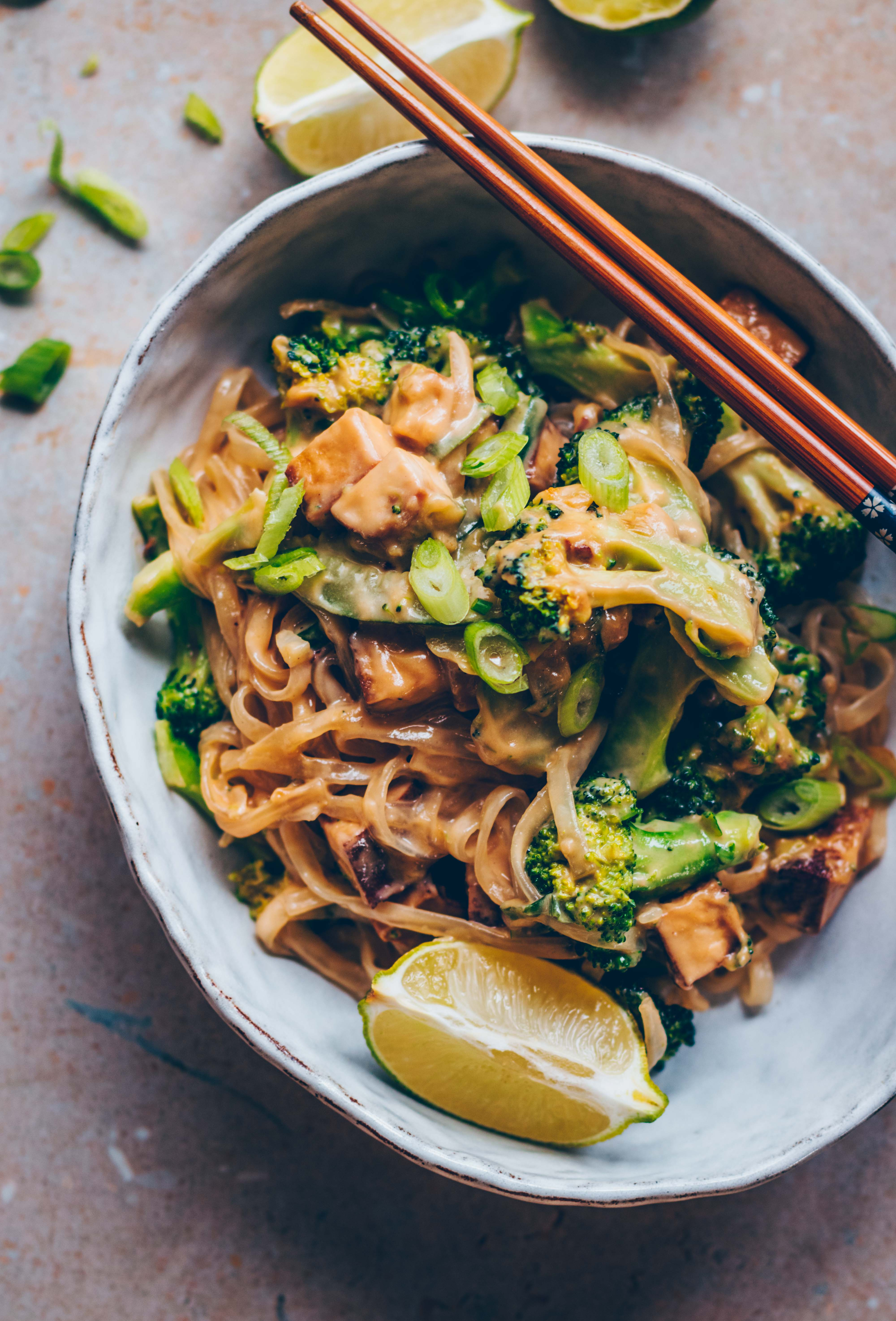 Vegan Pad Thai With Cashew Butter Broccoli Klara S Life