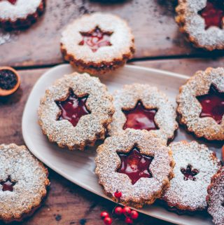 Poppy seed linzer cookies