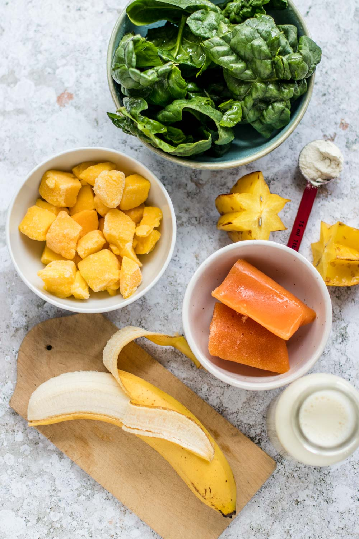 Spinat Mango Smoothie
