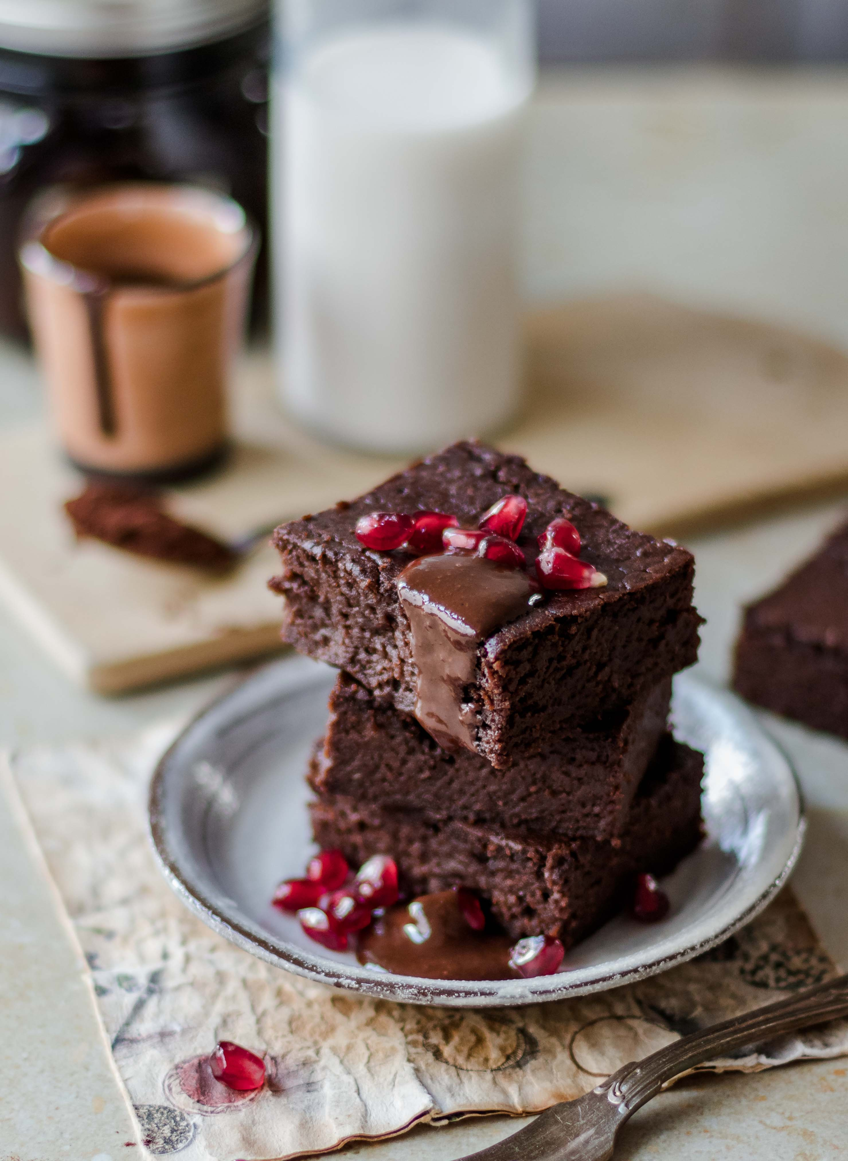 Dark Chocolate Brownies One Bowl Recipe Vegan Klara S Life