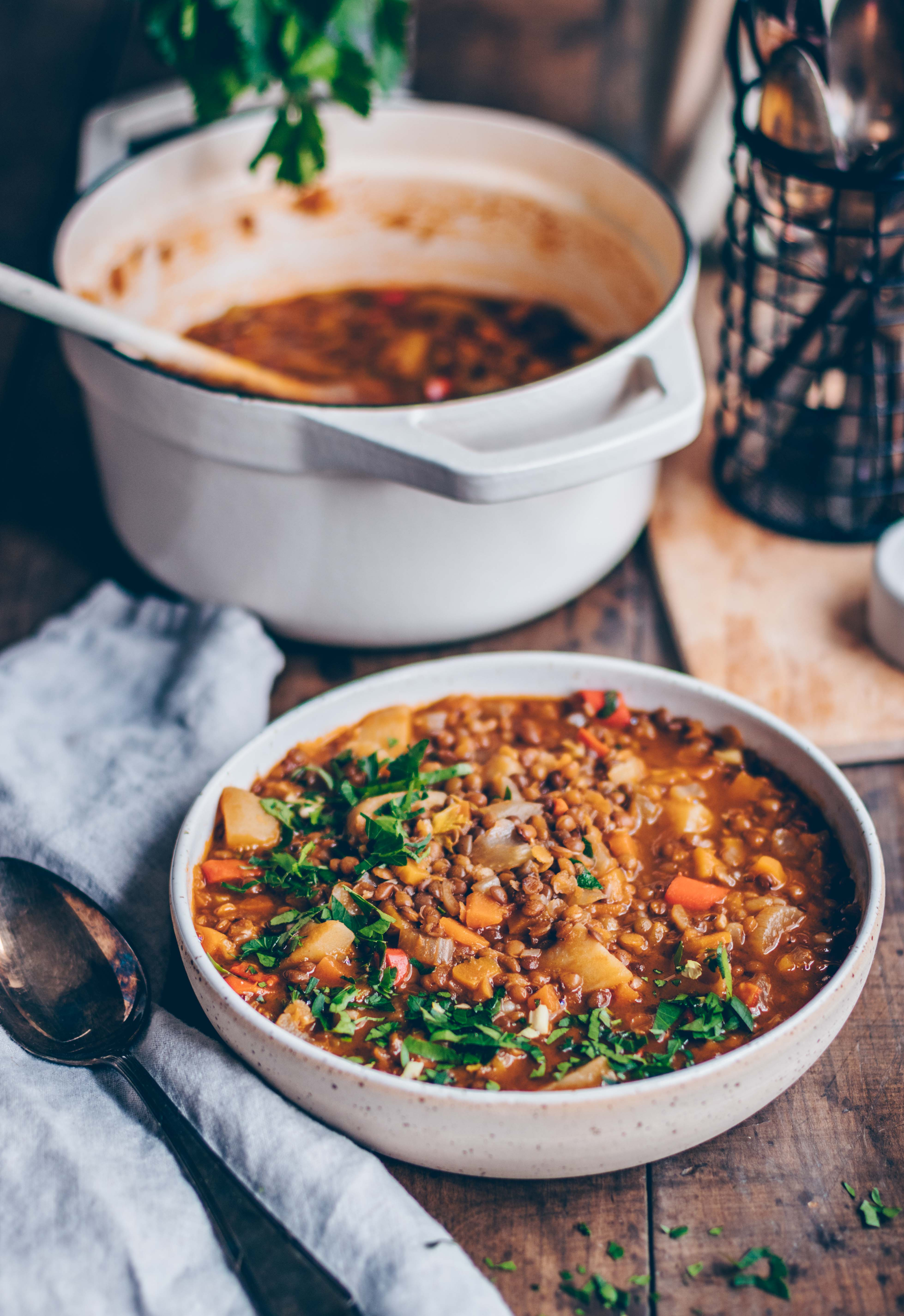 Lentil and vegetable stew