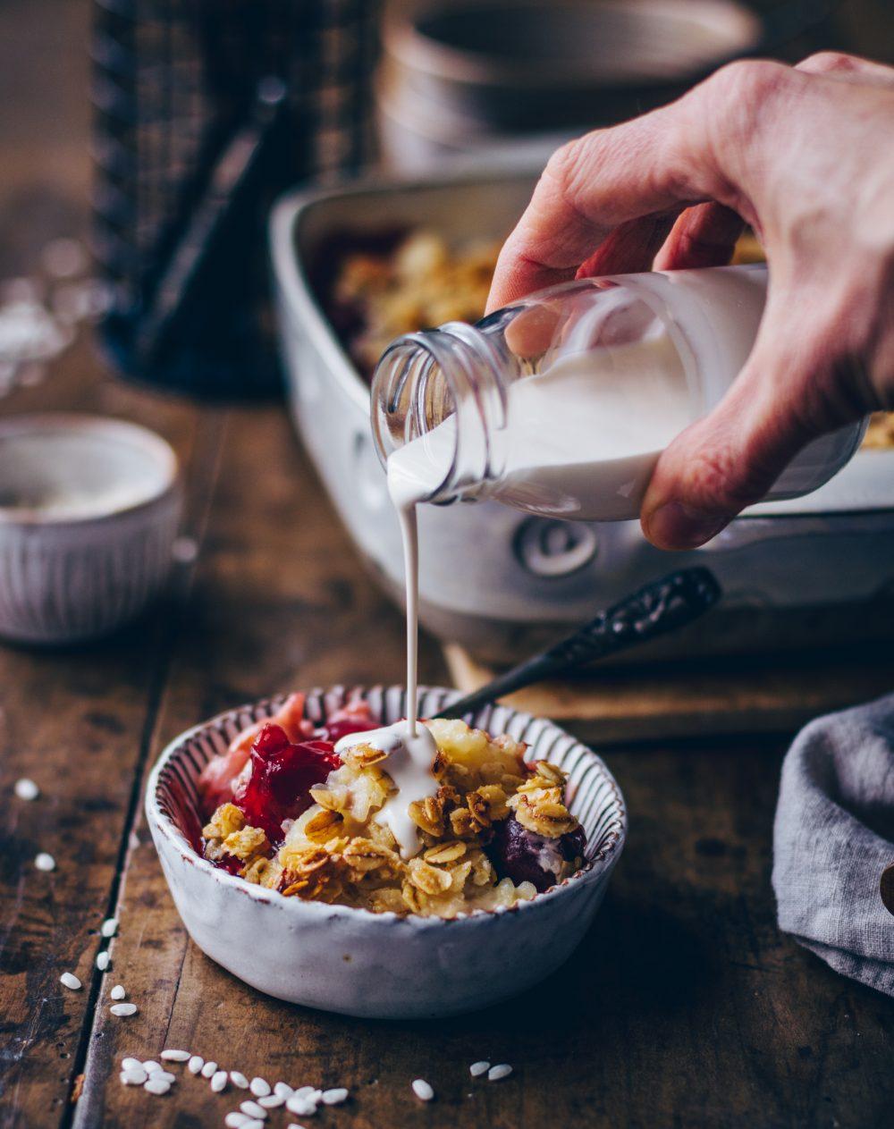 Kirschen Milchreis Auflauf