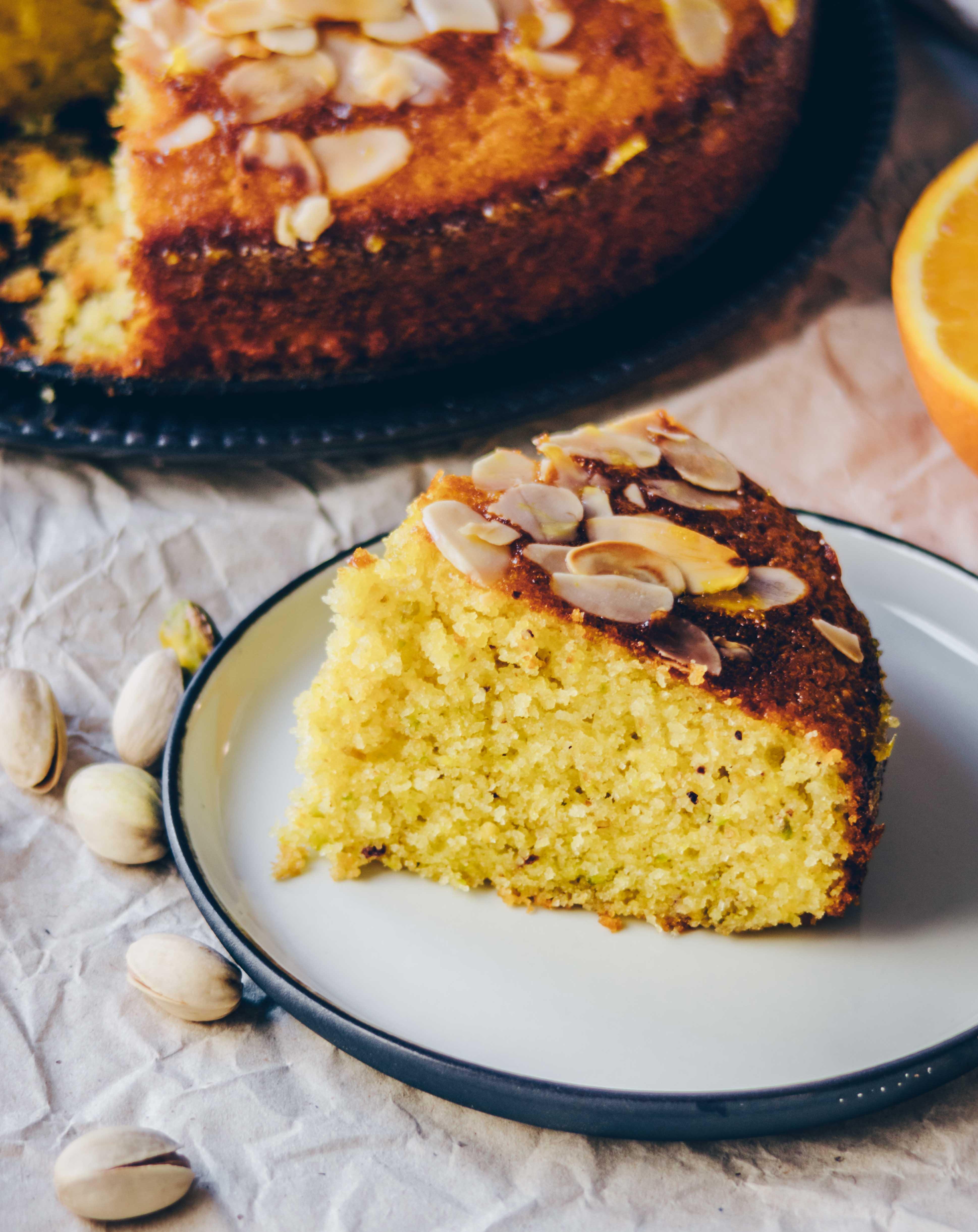 Orangen Pistazien Kuchen