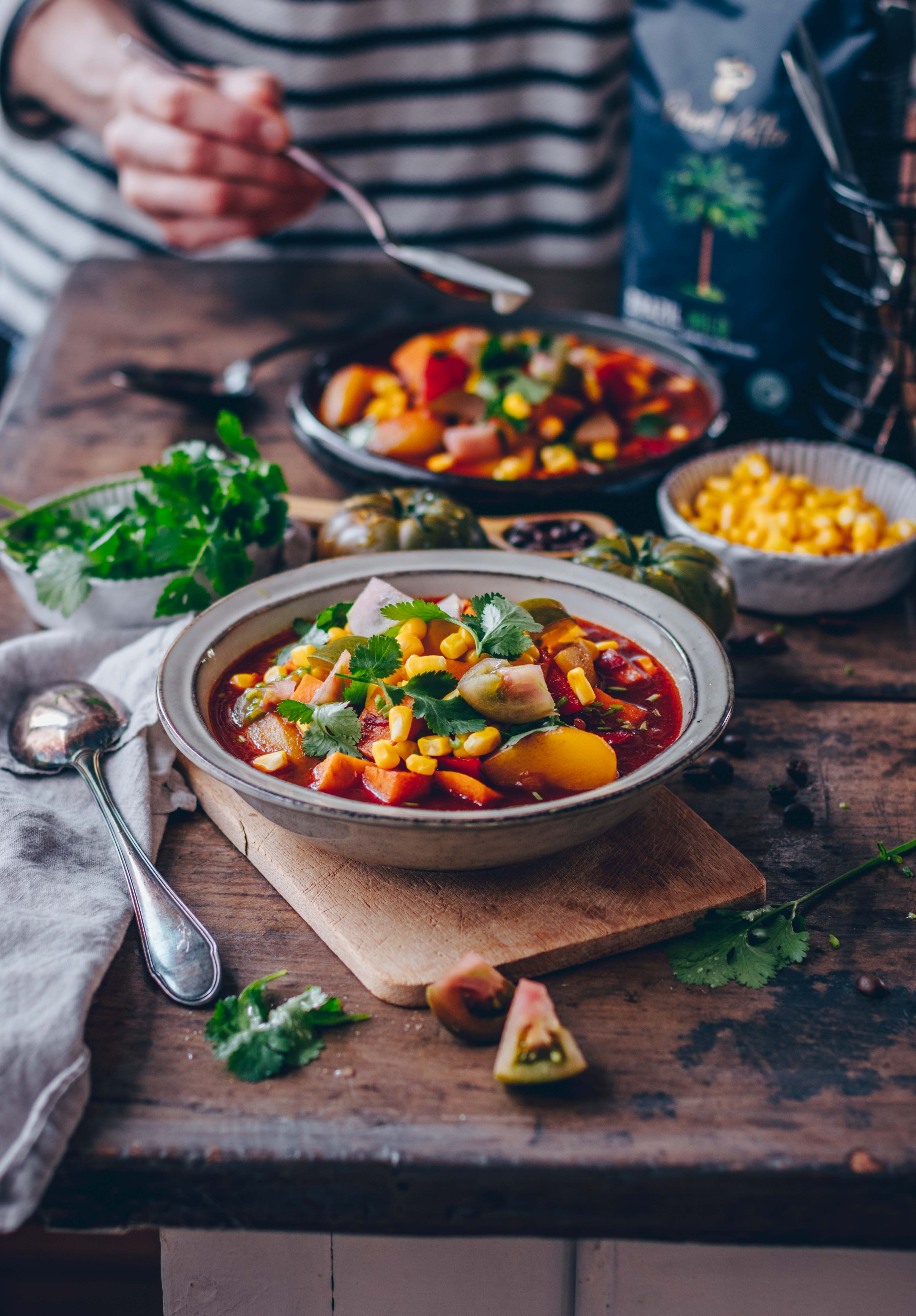 Süßkartoffel Gemüse Eintopf