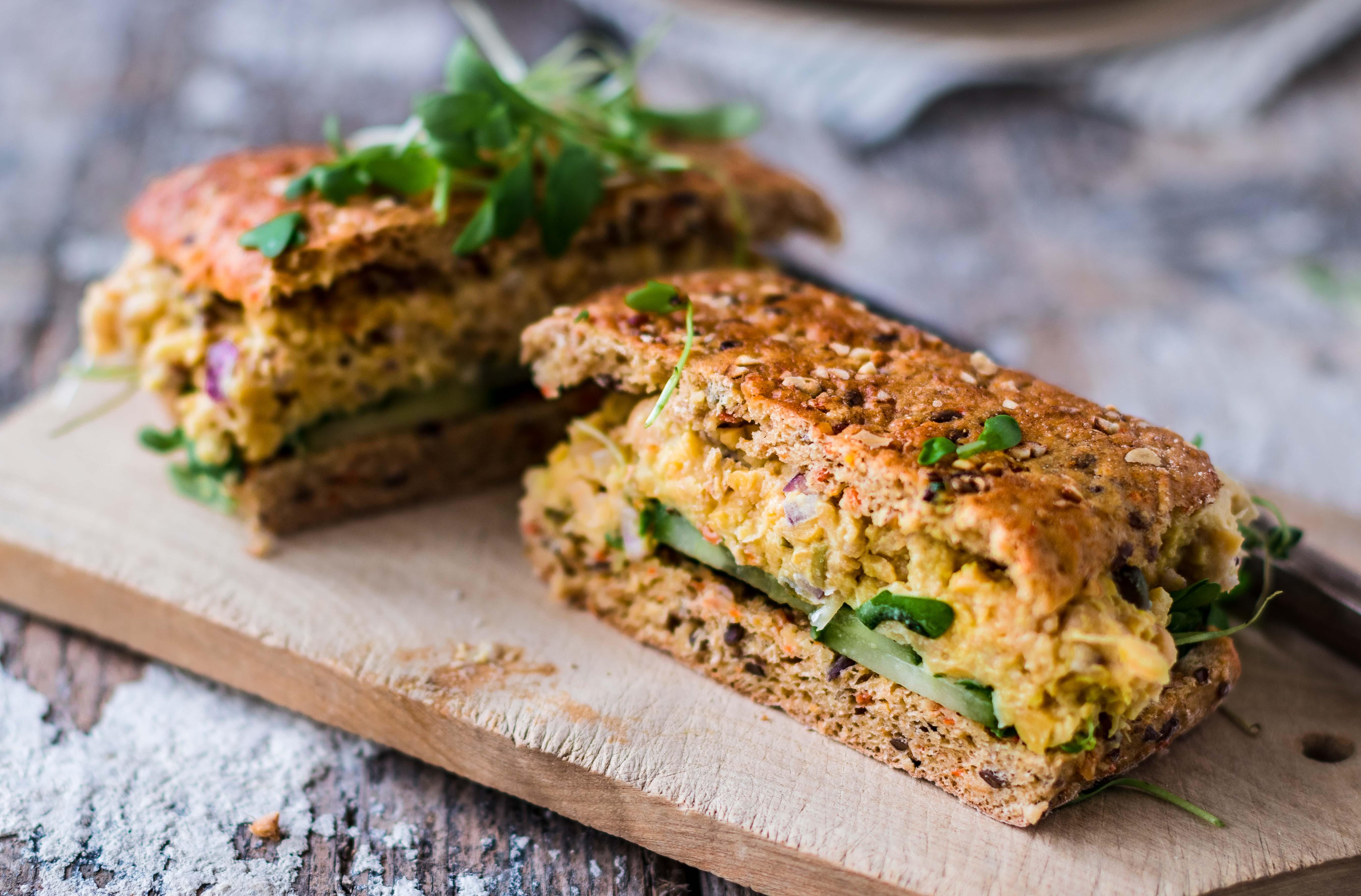 Veganes Thunfisch Sandwich