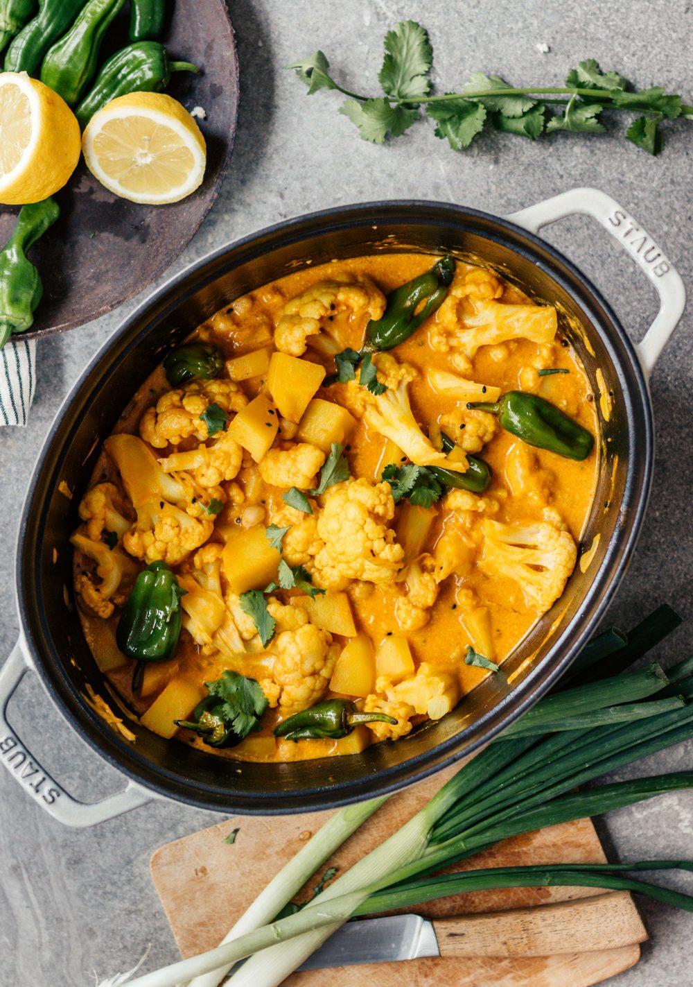 Kartoffel- Blumenkohl- Curry