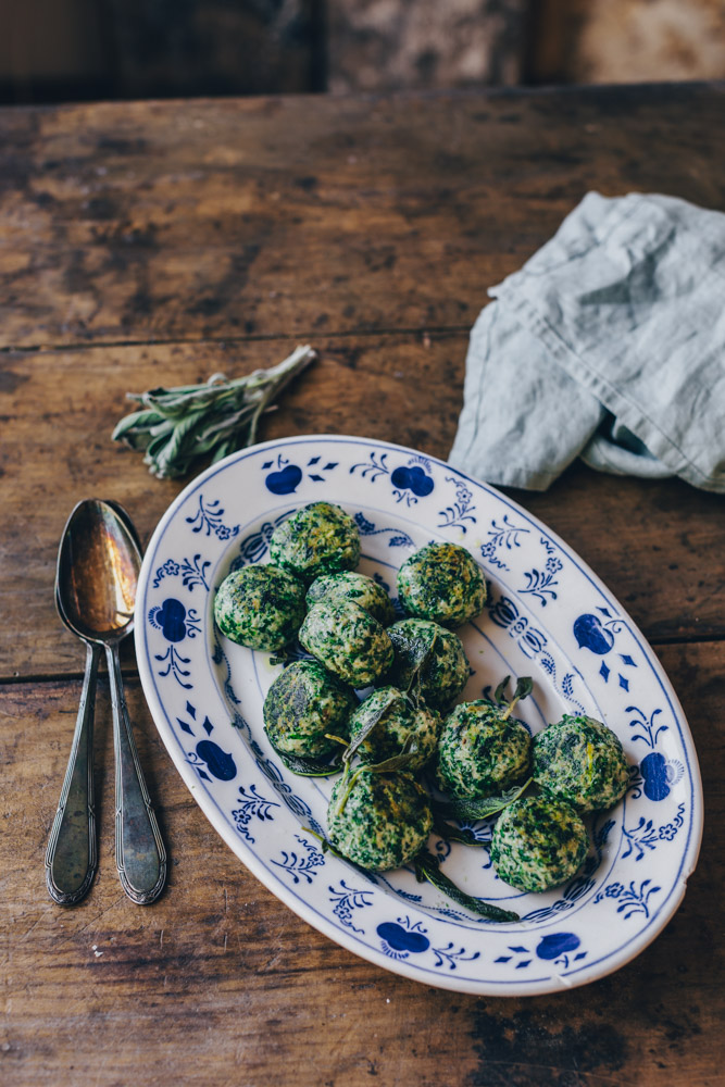 Spinach ricotta dumplings