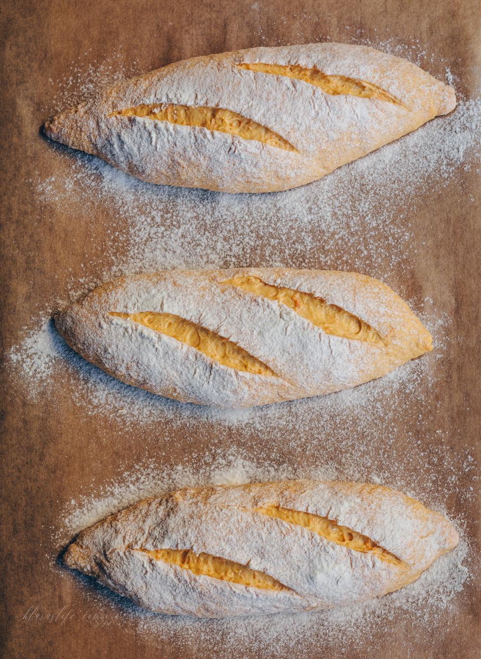 Karotten Baguette Brötchen