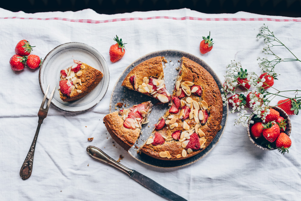 Erdbeer Mohn Kuchen