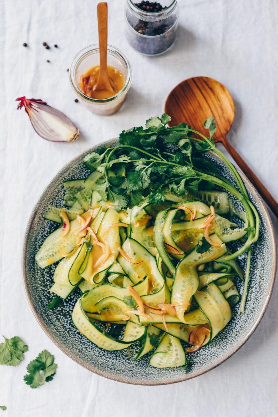 Asia cucumber salad