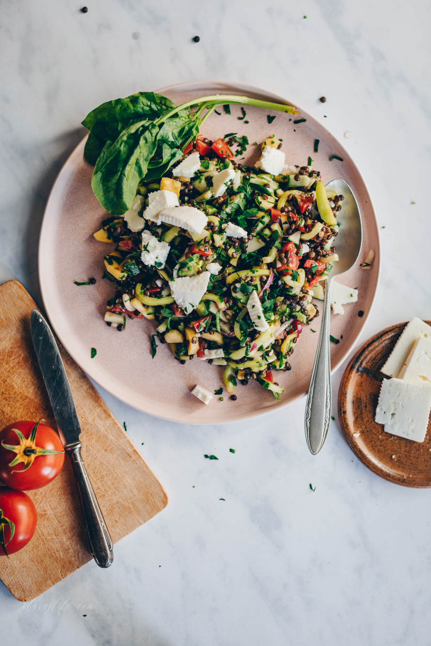 Beluga Linsen Salat
