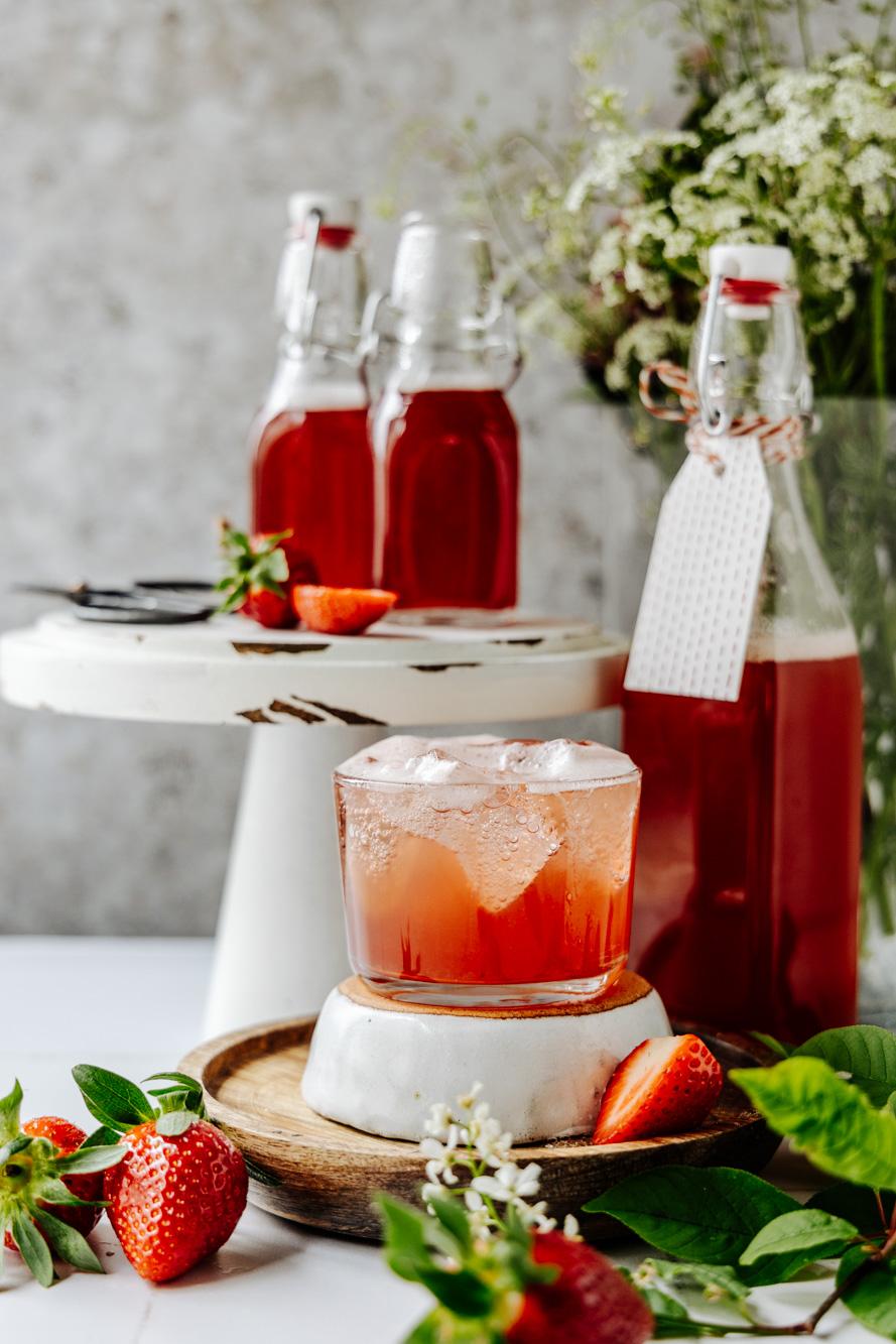 Rhubarb caramel syrup