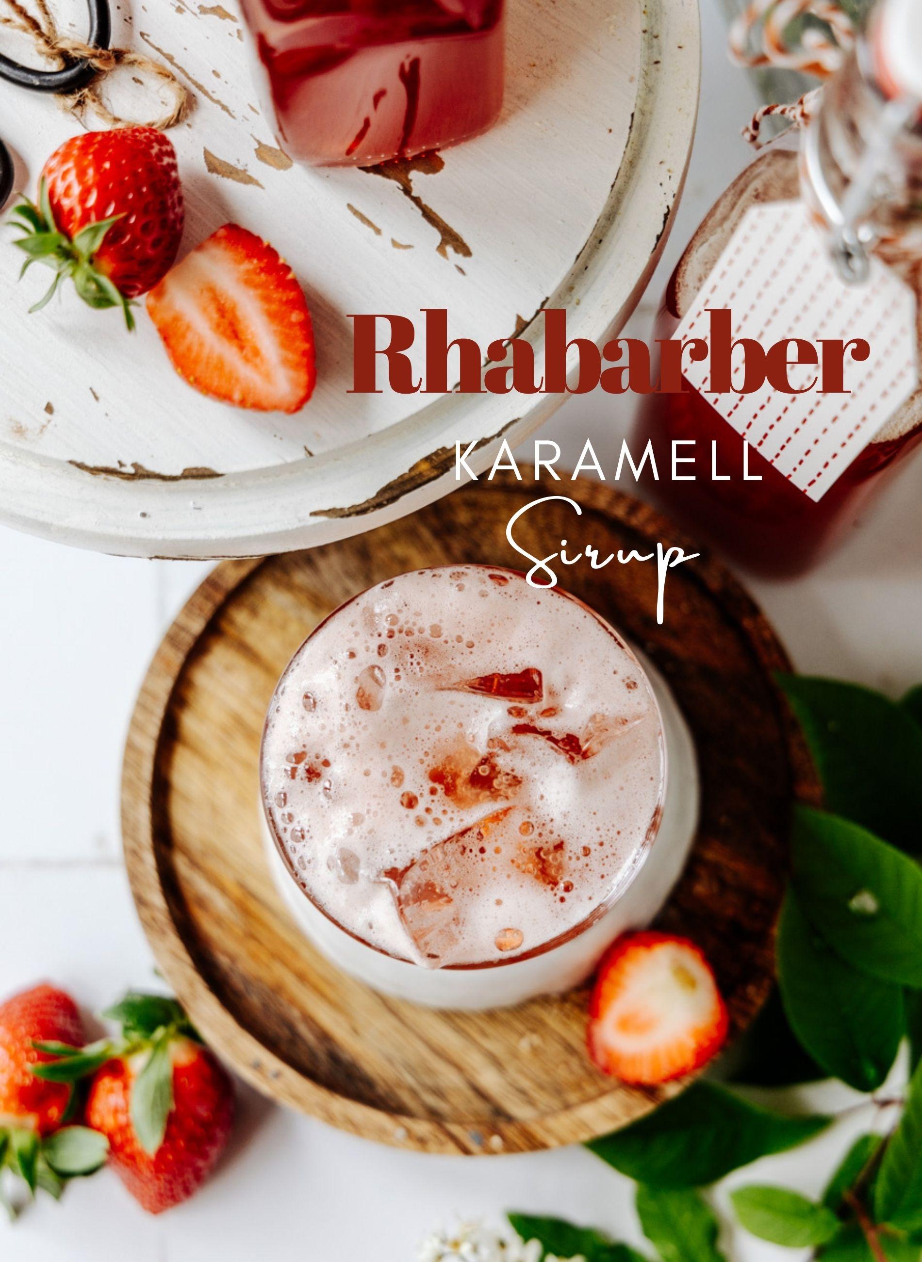 Rhabarber karamell sirup