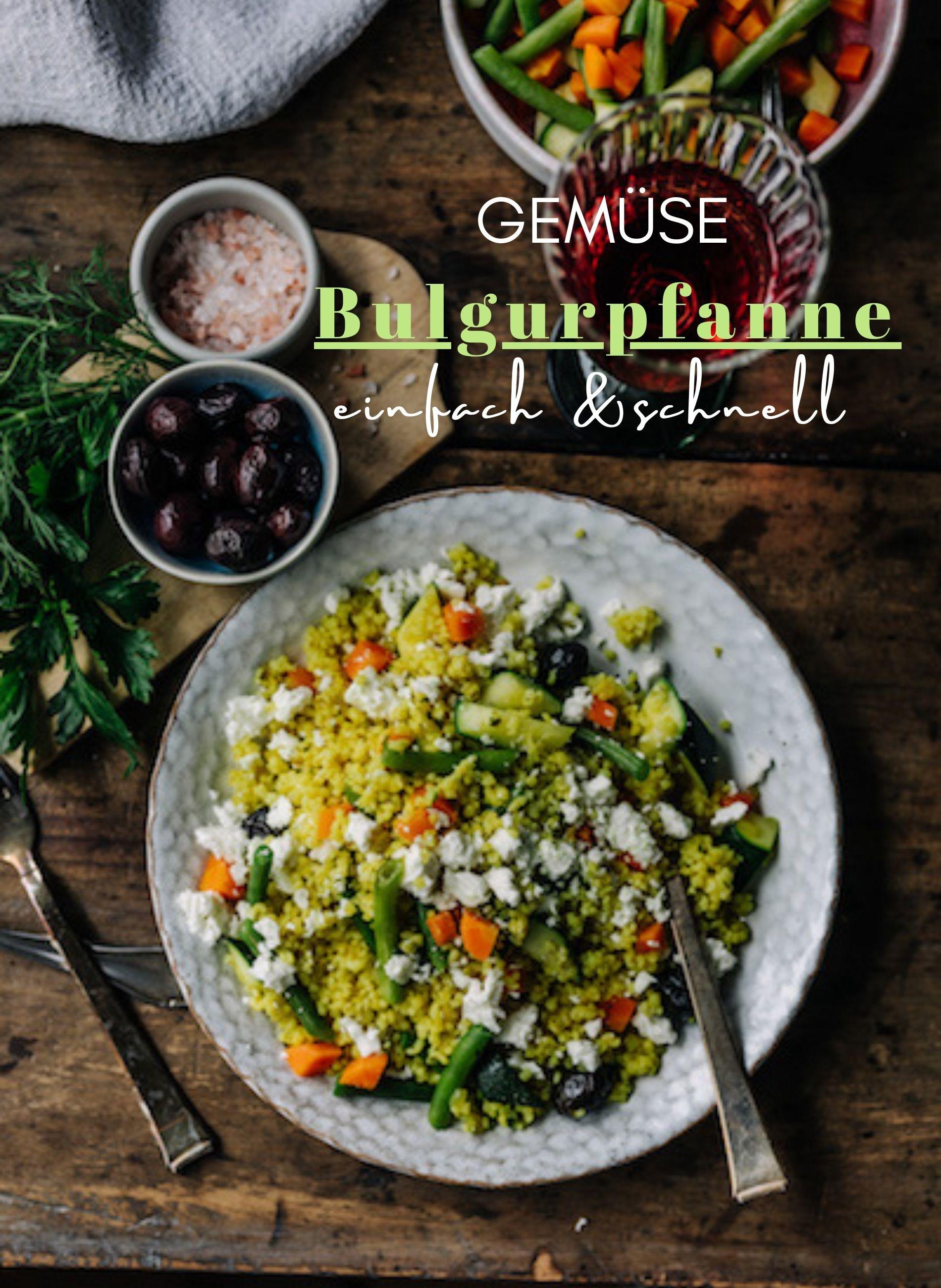 Gemüse Bulgurpfanne