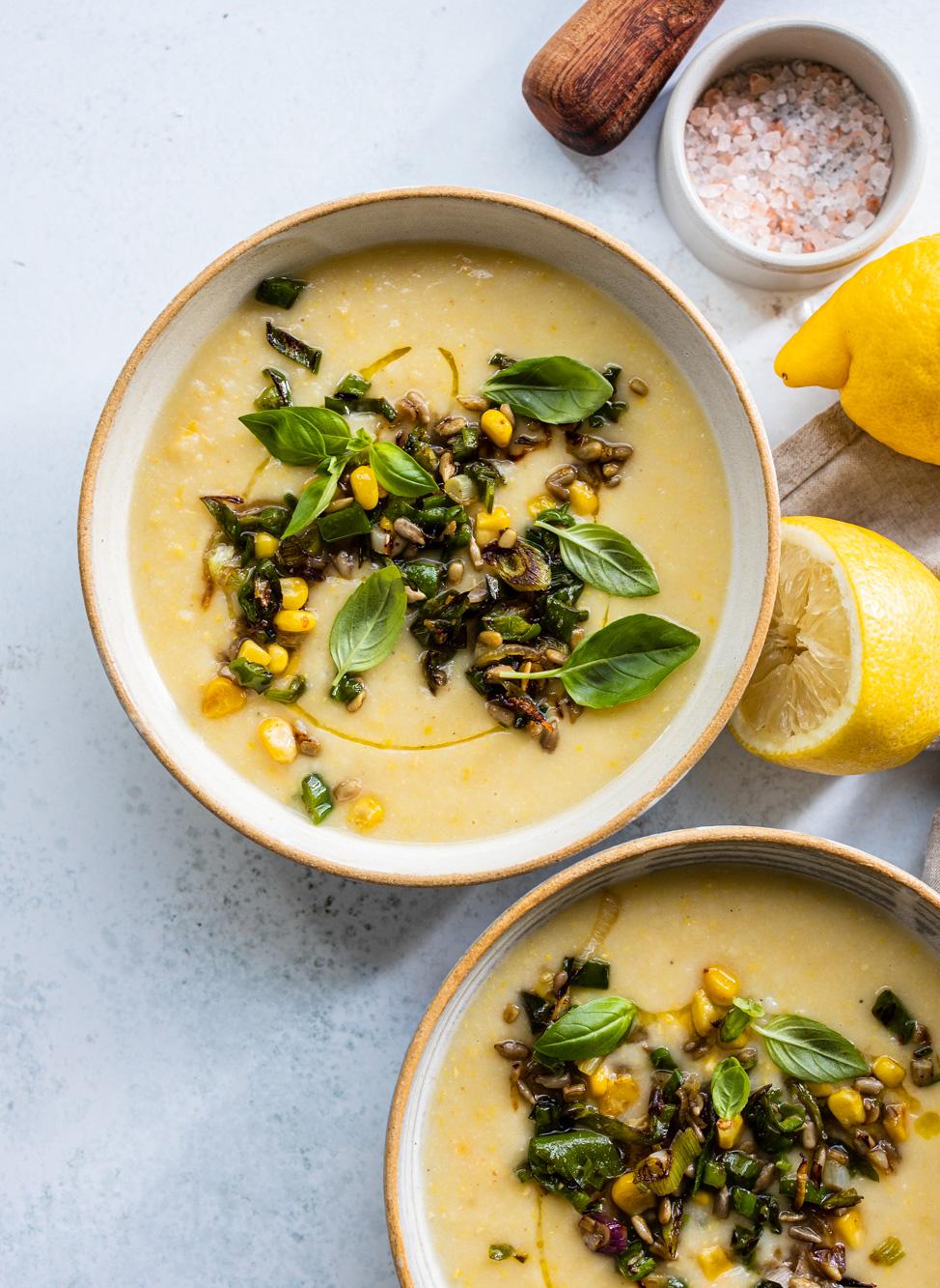 Blumenkohl-Maissuppe