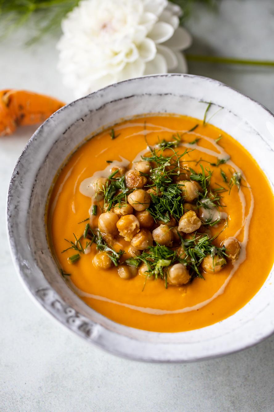 Karotten-Tomatensuppe