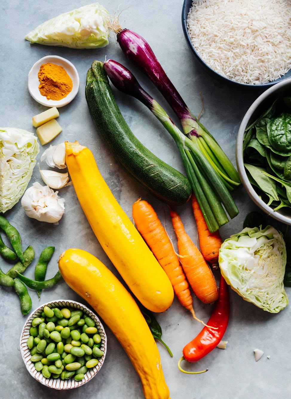 Zucchini Reispfanne